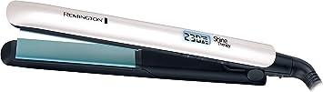 Oferta amazon: Remington Shine Therapy S8500 - Plancha de Pelo, Cerámica Avanzada, Digital, Aceite de Argán, Blanco, Resultados Profesionales