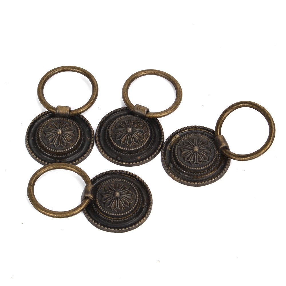 4pcs Door Ring Pull Handle Knob Decor for Cupboard Cabinet Drawer ZIJIA