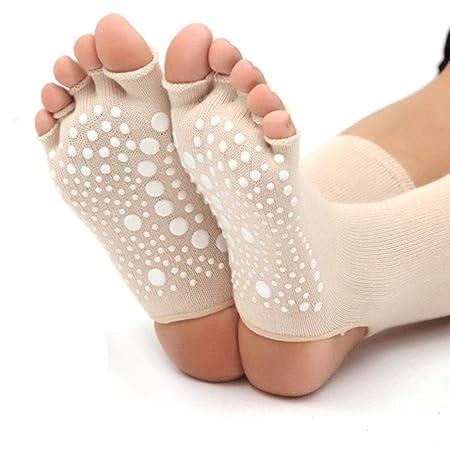 Calcetines de yoga Pilates Principiante Tubo Alto Femenino ...