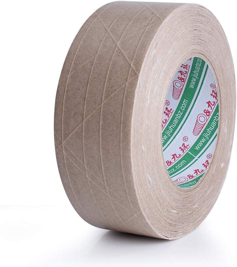 RROVE Nastro Adesivo in Carta Kraft Marrone mascheratura e sigillatura di scatole 36 mm di Larghezza x 45 m di Lunghezza