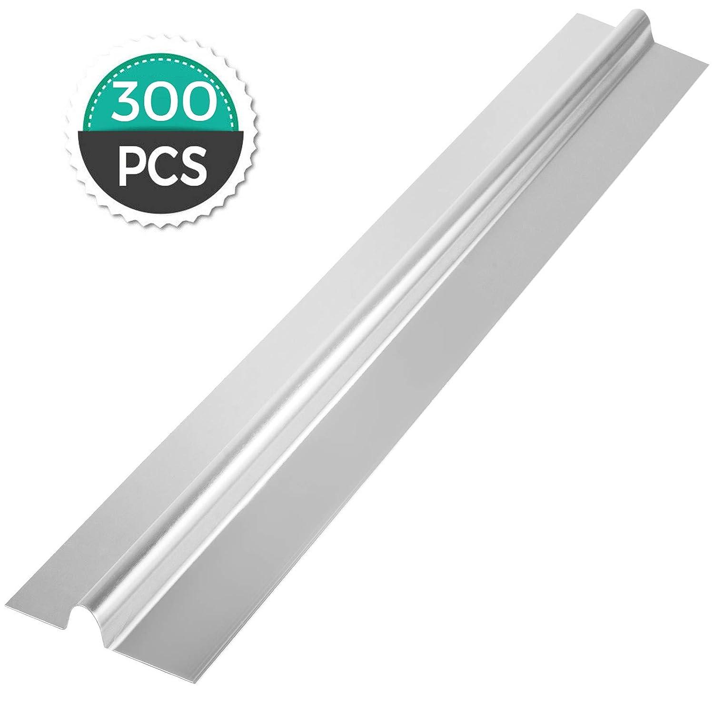 "Happybuy 4Ft 1/2"" PEX Heat Transfer Plates 300/Box Aluminum Heat Transfer Plates for Radiant Heating"