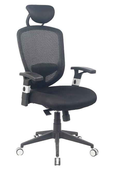 VIVA OFFICE Silla ergonómica de oficina de malla de respaldo alto ...