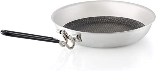 GSI Outdoors Stainless Troop Frypan for Camping and Outdoor Cooking
