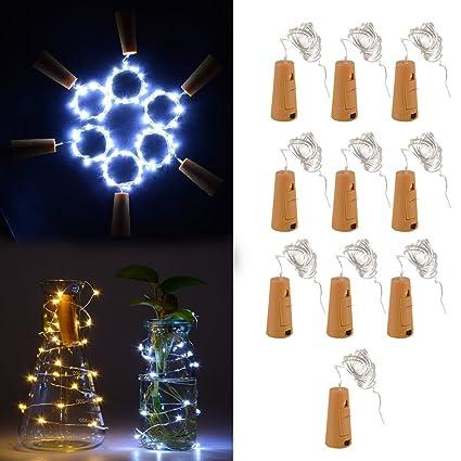 XCSOURCE® 10pcs 1m 20 LED Corcho en forma de LED noche estrellado de cobre de