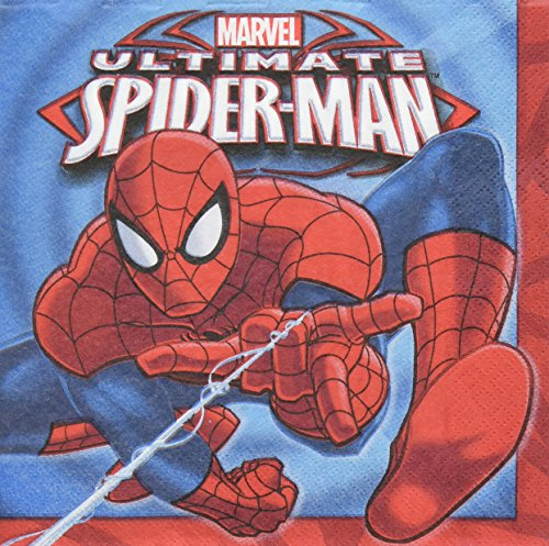 (16 Count Spider-Man Lunch Napkins,)