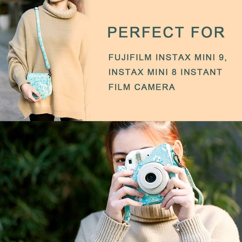 Includes Camera Case Strap,etc Album Kapok Stickers Frame Katia Instant Camera Accessories Bundle Compatible for Fujifilm Mini 9 // Mini 8+ // Mini 8 Instant Film Camera