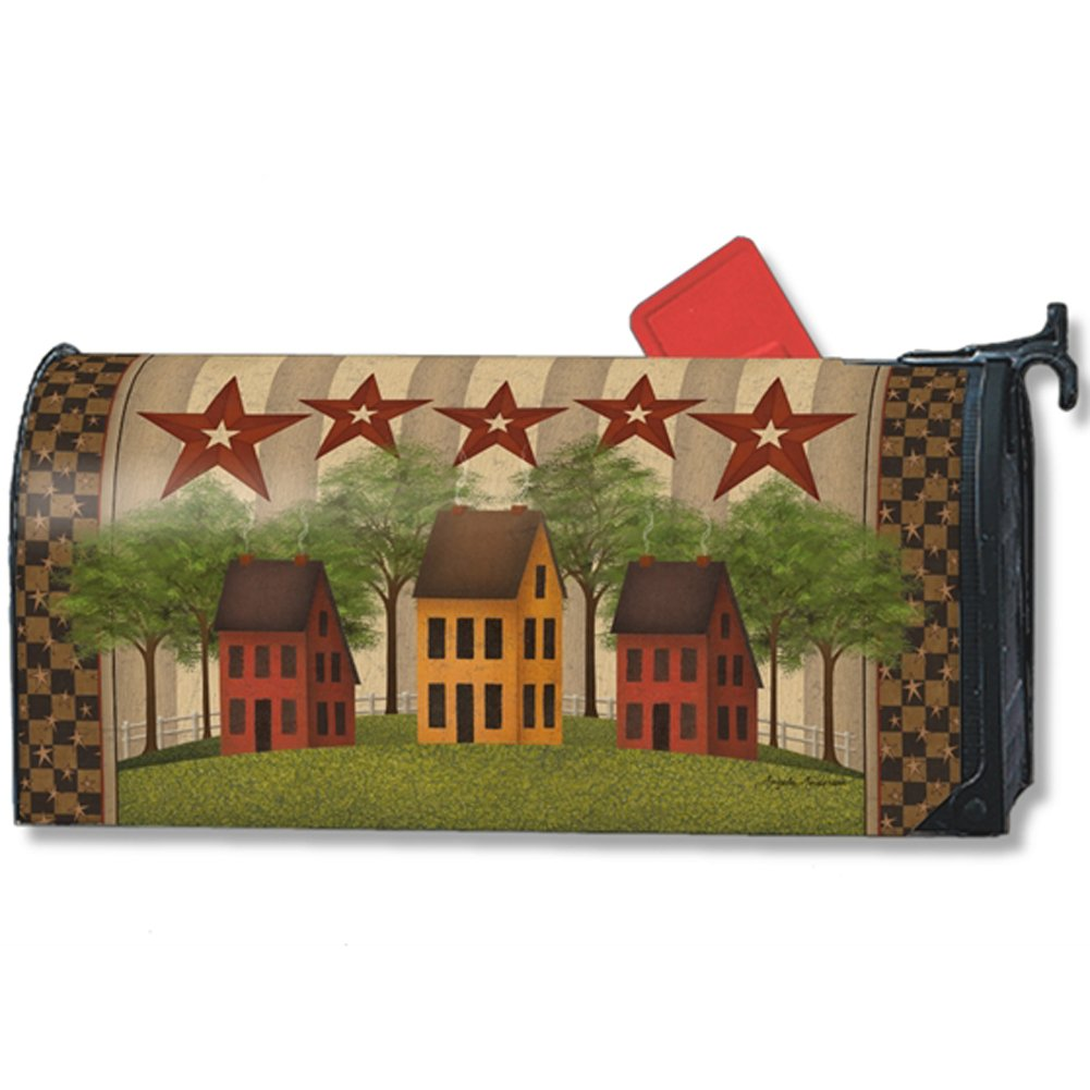 MailWraps Saltbox Houses Mailbox Cover 01337