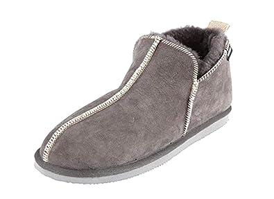 09c55cad1cb Shepherd of Sweden Mens Luxury Sheepskin Boot Slippers in Grey ...