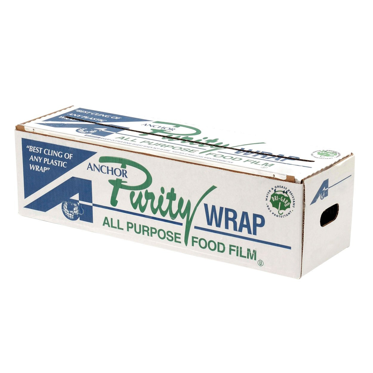 Purity Wrap PW122 Anchor Packaging 7313122 Premium Foodservice Film 12'' x 2000' Cutter Box 1 Roll/Case, Clear