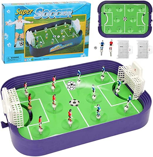 Earthily Table Top Foosball Table For Kids - Juego De Mini Mesa De Fútbol Compacto - Fútbol Portátil