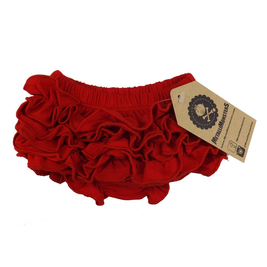 Metallimonsters Red Ruffle Bloomers (0-6 months)