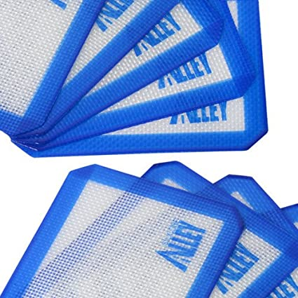 SILICONE ALLEY Small Rectangle 5 X 4 Inch Blue 10 Non-Stick Silicone Mat Pad