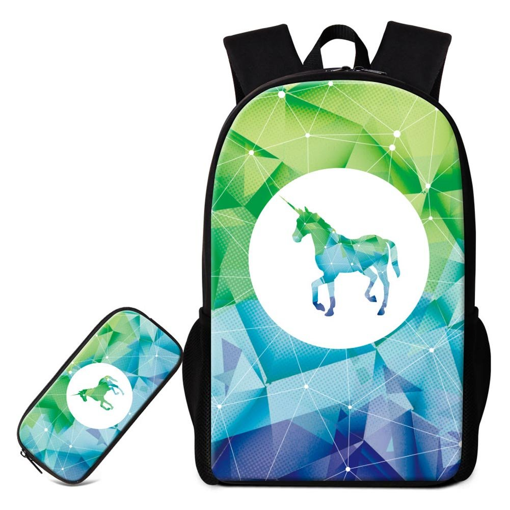 Amazon.com: GIVE ME BAG Generic Unicorn Backpack Satchel for Girls Cute Animal School Bag and Pencil Case Mochilas for Children: Sports & Outdoors