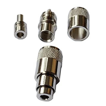 ycnk 5pcs male-plug UHF PL259 coaxial de soldadura para rg-8, 9