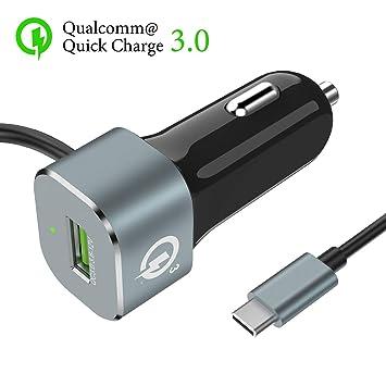 Snowkids - Cargador de coche USB tipo C, 33 W, cargador de ...