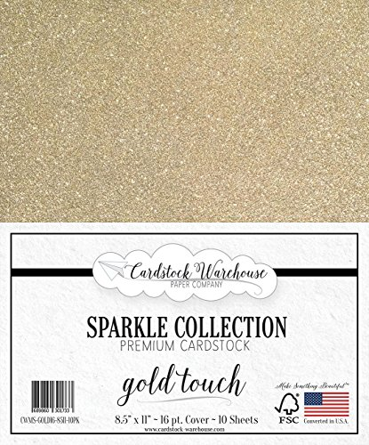 MirriSparkle Gold Touch Glitter Cardstock Paper from Cardstock