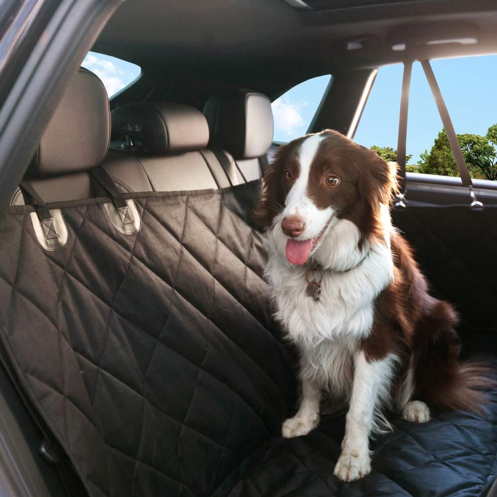 MiC-LuLu Seggiolino auto per cani con amaca e finestra di osservazione per finestra Cintura di sicurezza per acqua antigraffio antiscivolo grigio SC137010GO