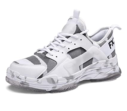 89137bec871c7 Amazon.com: LUCKY-U Men Running Shoes。 Men Casual Shoes Mens Mesh ...