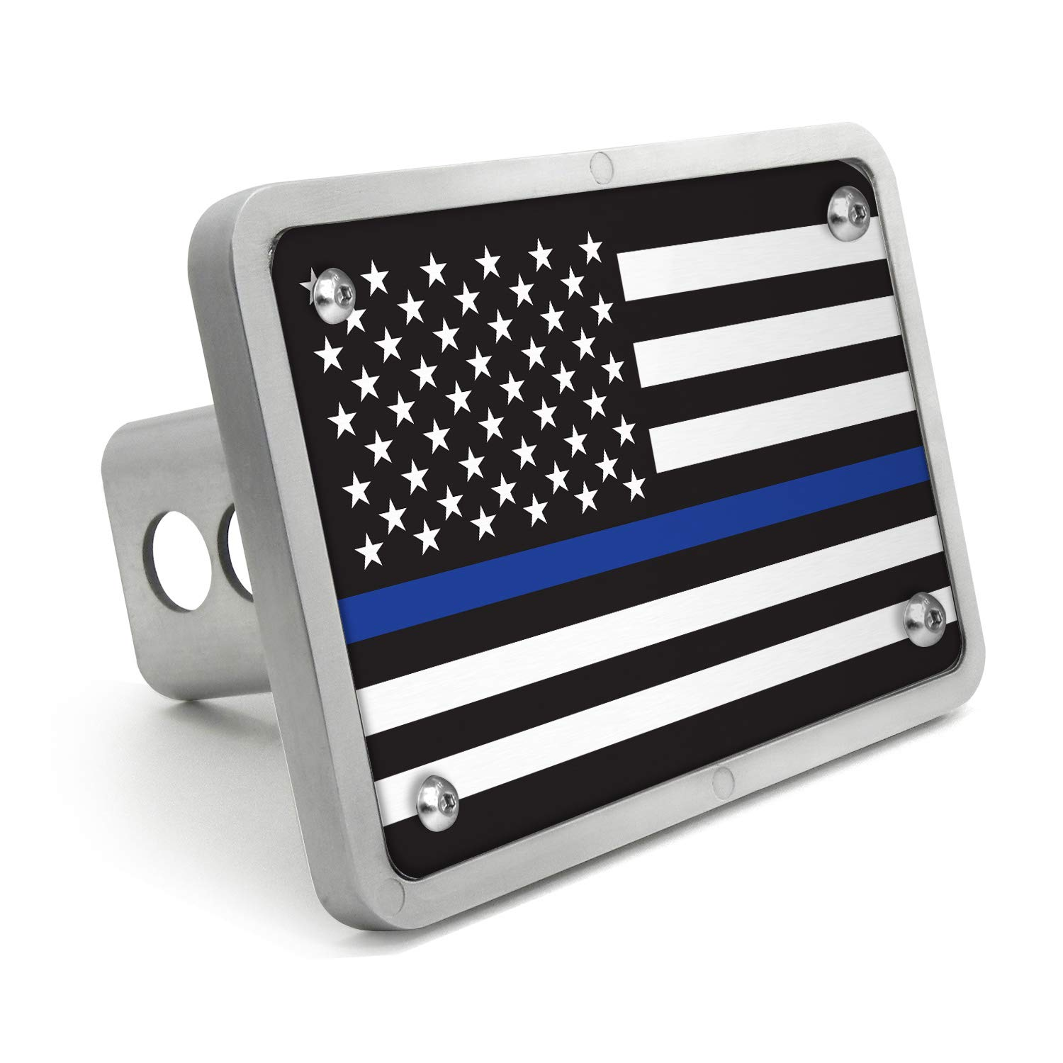 Graphics and More Thin Blue Line American Flag Tow Trailer Hitch Cover Plug Insert 1 1//4 inch 1.25