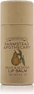 product image for Farmstead Apothecary, Lip Balm Pear Almond, 0.2oz