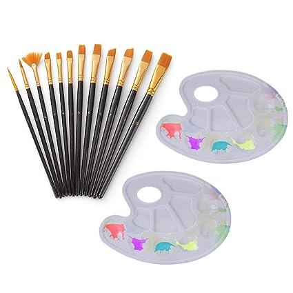 Aibecy 12 piezas de pinceles de pintura para el cabello de ...