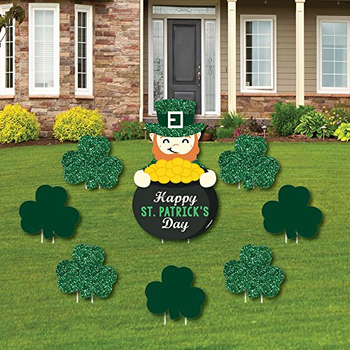 St. Patricks Day - Yard Sign & Outdoor Lawn Decorations - Saint Pattys Day Party Yard Signs - Set of 8