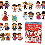 Dicksons Jesus Loves The Little Children 4 x 3 inch Vinyl Set of Story Magnets