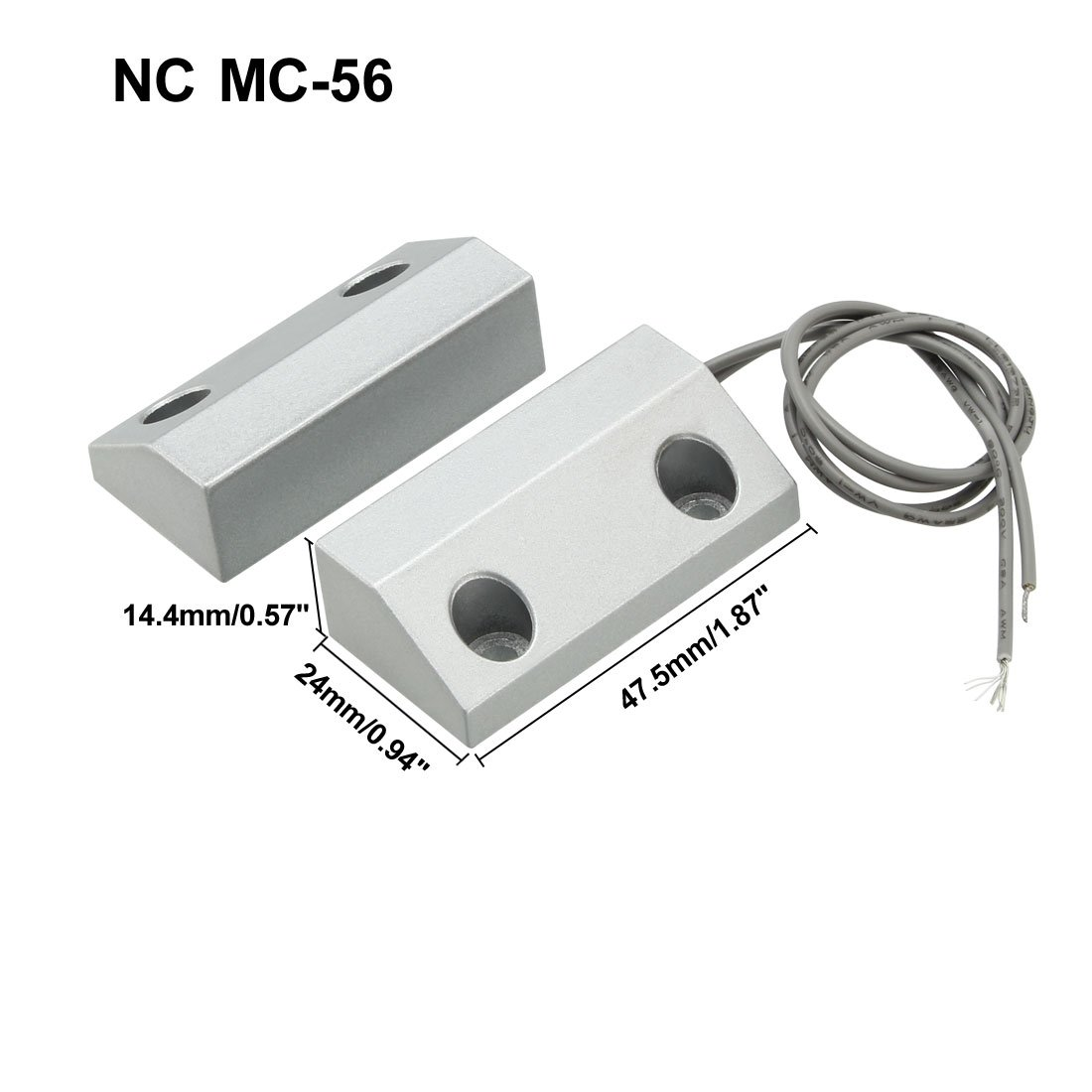 sourcing map MC-58 NC+NO Alarm Sicherheit Rolltor Garage Kontakt Magnetschalter Reed Schalter DE de