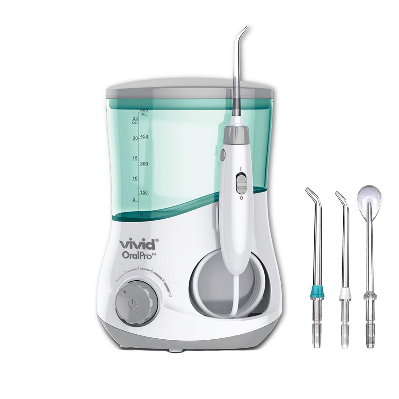 Vivid OralPro – Water Flosser Electric Dental Countertop Oral Irrigator, Electric Oral Irrigator Flosser – 600 ml Capacity