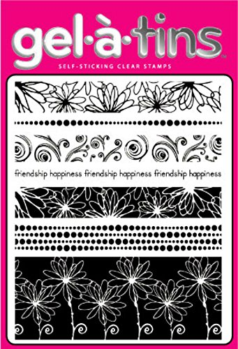 Gel-a-tins gelatins Clear Rubber Stamps Happiness + Aluminum Case