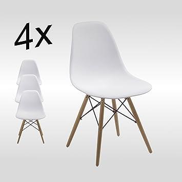 Stuhl Esszimmerstühle Küchenstühle !4 er Set! Art. DH0450 in WEISS ...