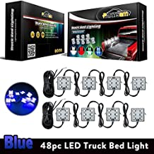 Partsam Pickup Truck Bed Blue 48 LED Cargo Area Tail Light Kit Fit All 12V Vehicles Dodge Ram 1500-3500 GMC Chevy Ford F150-F350