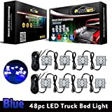 hummer h3 2007 drop kit - Partsam Pickup Truck Bed Blue 48 LED Cargo Area Tail Light Kit Fit All 12V Vehicles Dodge Ram 1500-3500 GMC Chevy Ford F150-F350