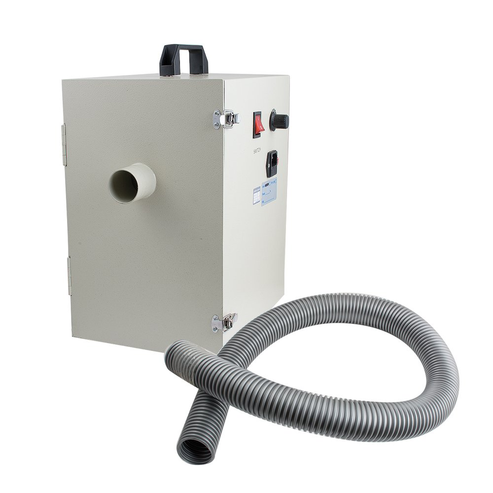 Zorvo Dental Lab Digital Twin-impeller Dust Collector Vacuum Cleaner & 2 Suction Lab Double-impellers Dust Collector Suction Artificer Room Vacuum Cleaner -Shipping from USA, 3-5 Days For D