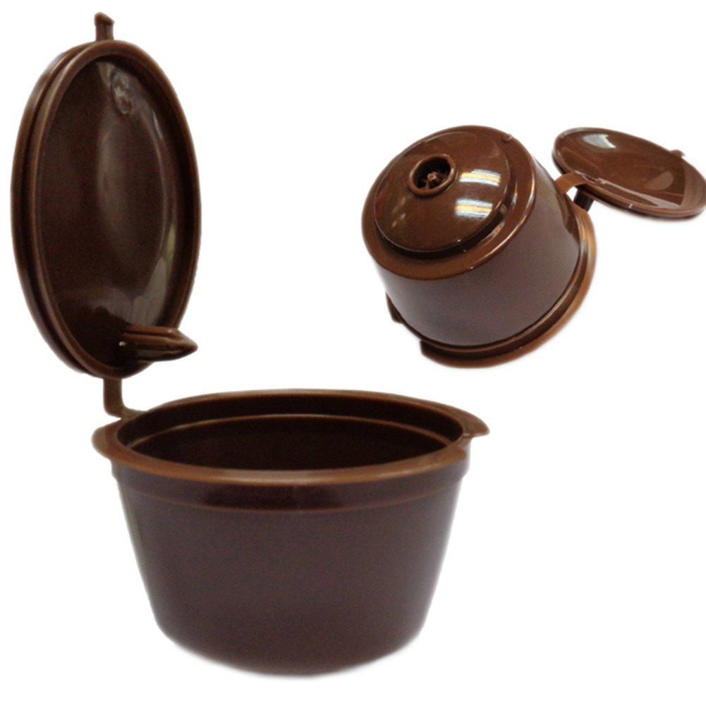 LAAT, capsule per caffè riempibili, filtro riutilizzabile per il caffè, cialde per macchine da caffè,colore: caffè, confezione da 2