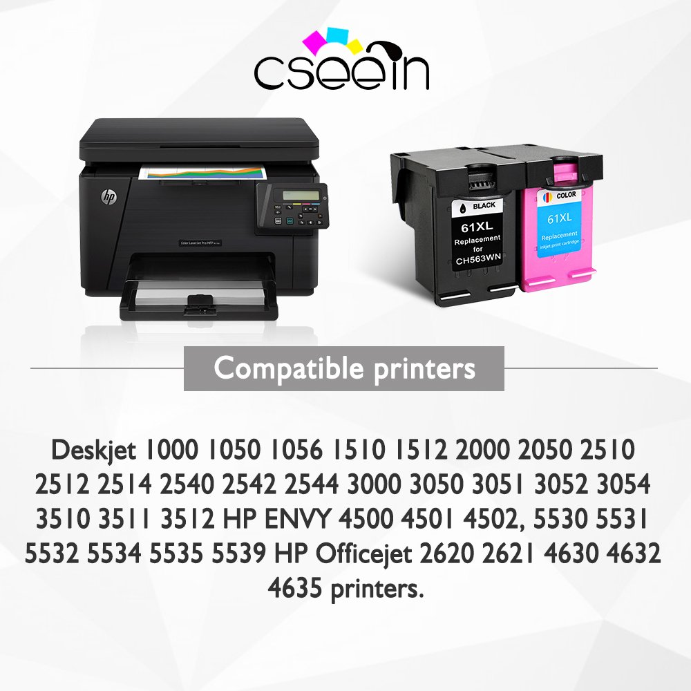 QSY 2 x Remanufacturados HP 61 X L cartucho de tinta (1 negro, 1 ...