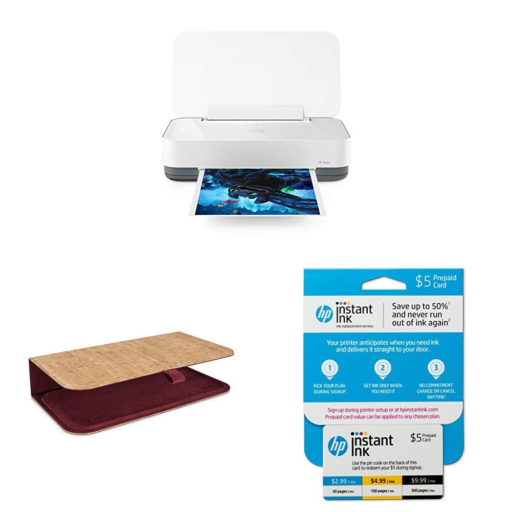 HP Tango Smart Home Printer with Tango Cork and Currant Cover with Instant  Ink