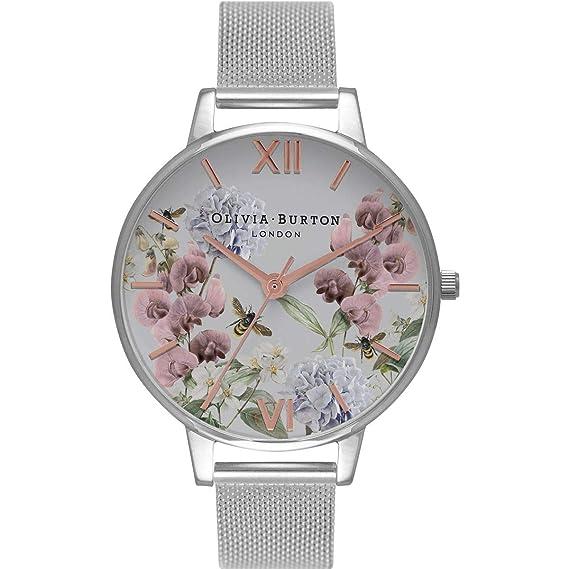 Olivia Burton Reloj Analógico para Mujer de Cuarzo con Correa en Acero Inoxidable OB16PL34