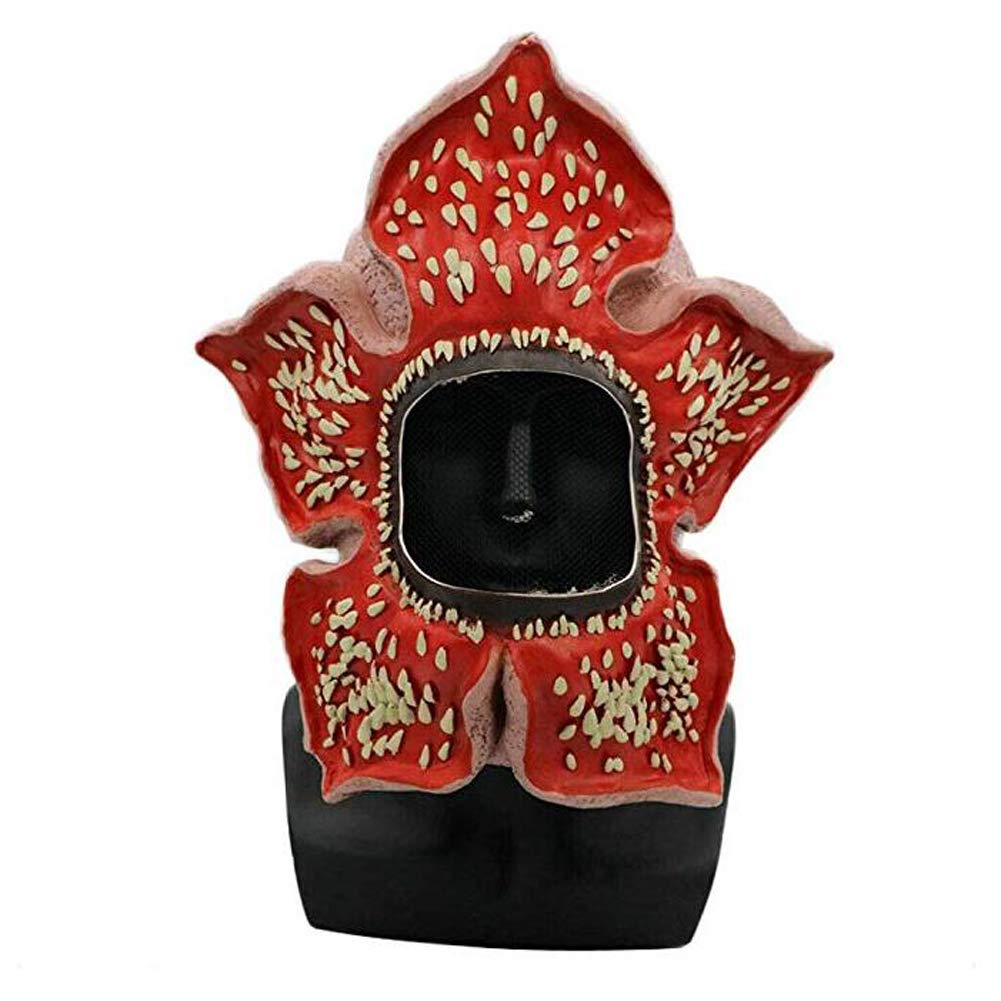 ENFLNI Stranger Season 3 Cosplay Things Demogorgon Mask Latex Dress Up Costume Party Props Red for Halloween Party by ENFLNI