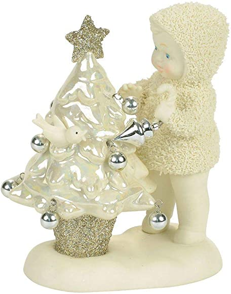 Department 56 Snowbabies Oh Christmas Tree Porcelain Figurine, 4.49