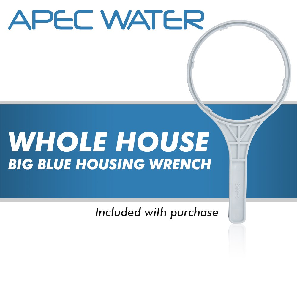 APEC Whole House Water Filter System with 20'' Big Blue Carbon Filter (CB1-CAB20-BB)