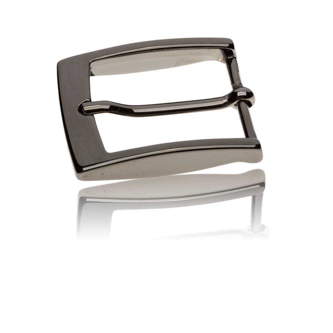 Gürtelschnalle Buckle 35mm Metall Silber Anthrazit - Buckle Facile - Dornschliesse Für Gürtel Mit 3, 5cm Breite - Silberfarben Anthrazit