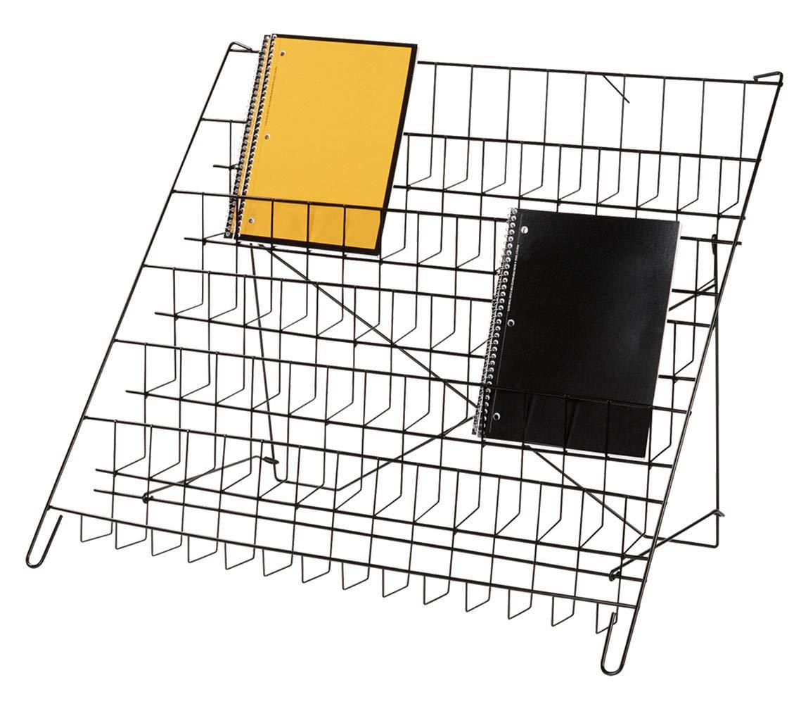 SSWBasics 6-Tier Black Wire Countertop Rack - 22'' H x 29½''W x 18'' D