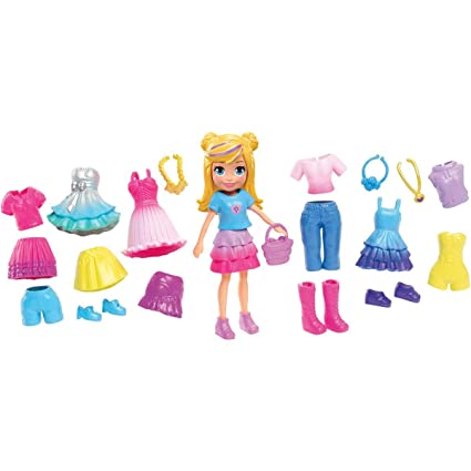 Toy Trends 2020.Polly Pocket Playset 2019 2020 Fashion Collection Ready To Party Themed Fashions And Accessories Latest Fashion Trends Clothes And Bag Includes