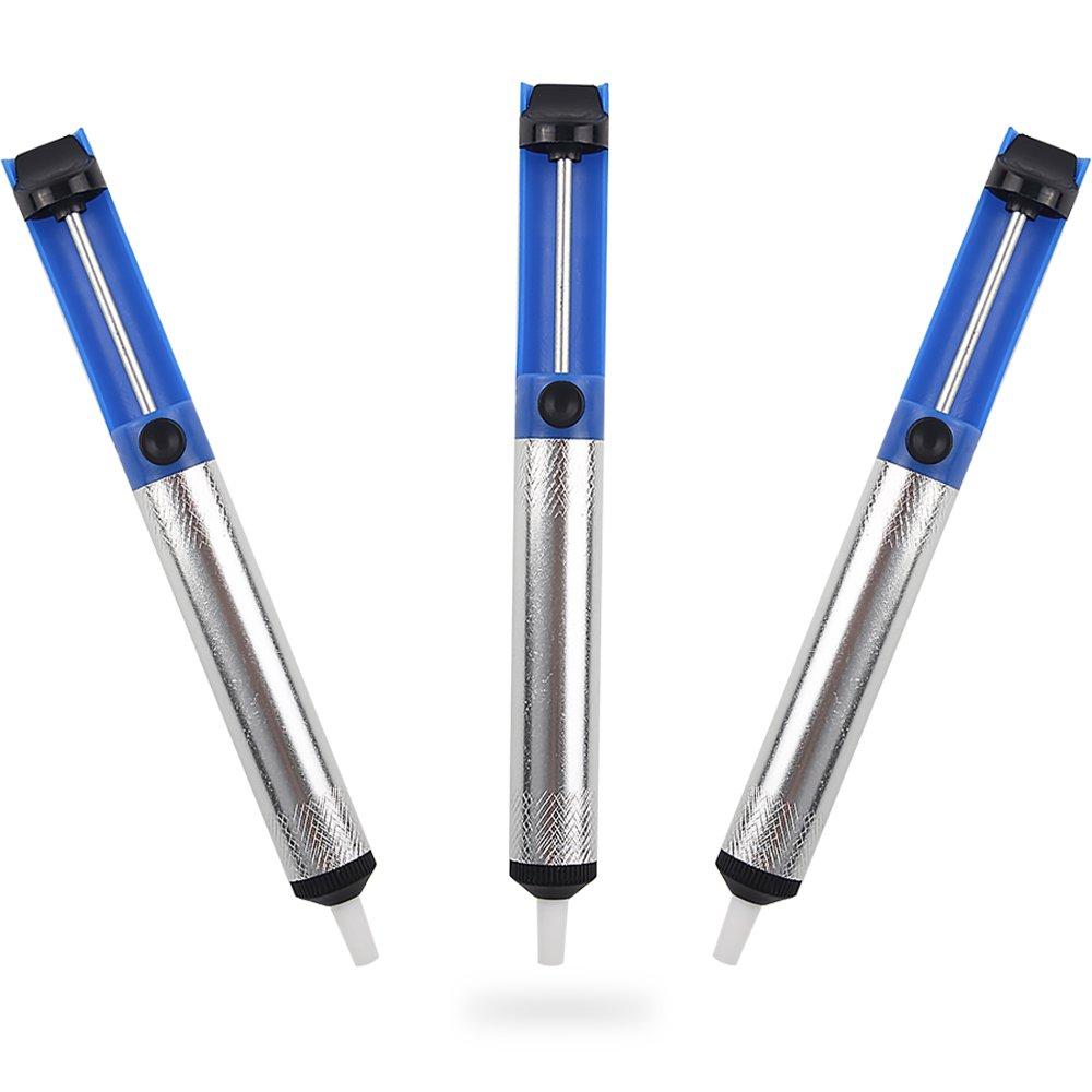 Teenitor Solder Sucker Desoldering Vacuum Pump Solder Removal Tool 3pcs Pack