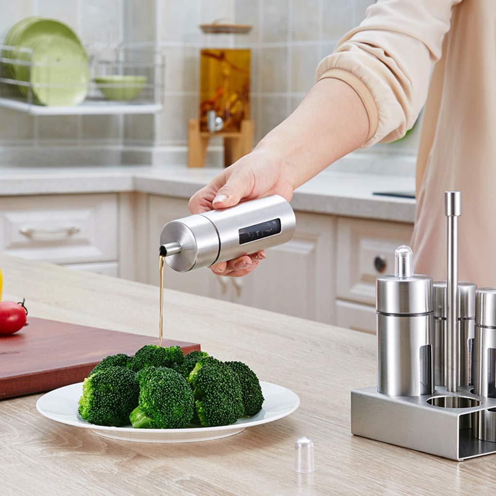 Acciaio Inossidabile tortiera Bottiglie acriliche per distributori di aceto e Olio sali e Pepe nobrand Set ampolline 4 Pezzi