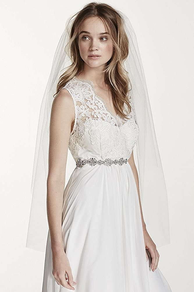 Two Tier Elbow Length Veil Style V2384