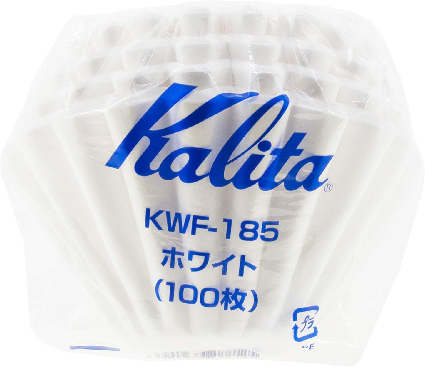 4/personnes Blanc 100/pi/èces # 22212/Nouveau mod/èle Kalita Wave S/érie Wave Filter Kwf-185/Lot de 2/2