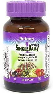 Bluebonnet Super Earth Single Daily Multi-Nutrient Formula Iron Caplets, 60 Count