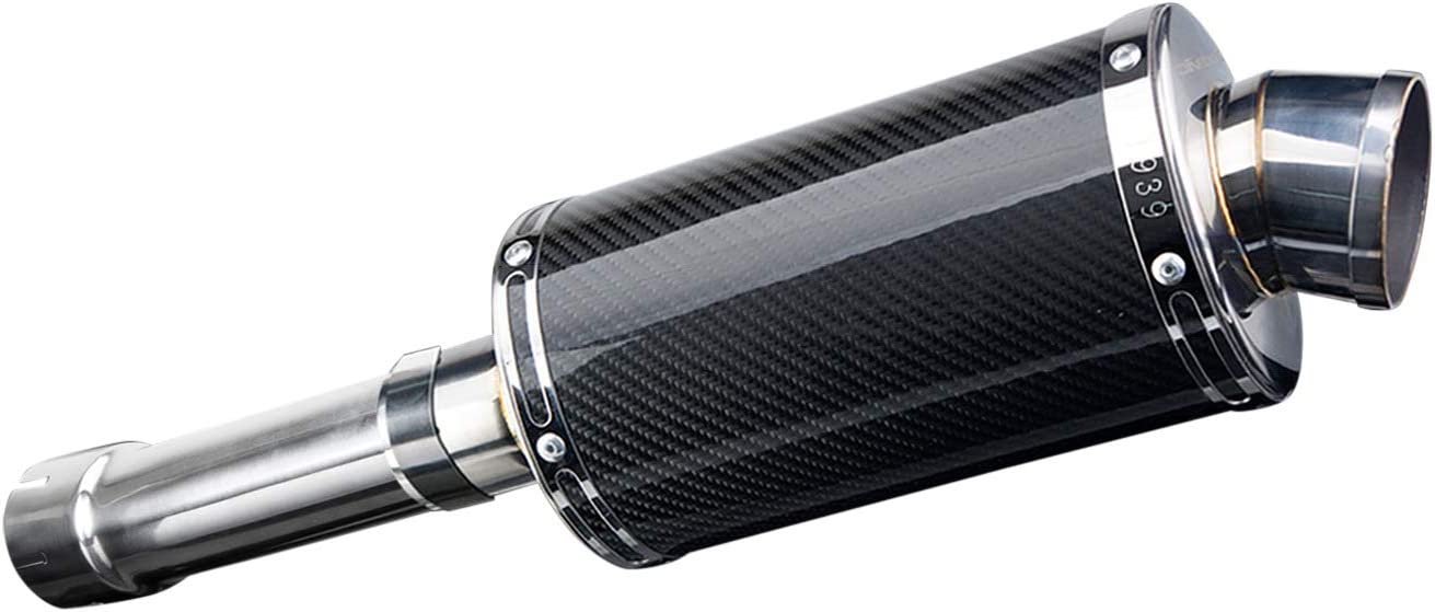 2007-2012 2008-2016 /& F700GS DS70 9 Carbon Fiber Oval Muffler Exhaust Delkevic Aftermarket Slip On compatible with BMW F650GS F800GS 2013-2018